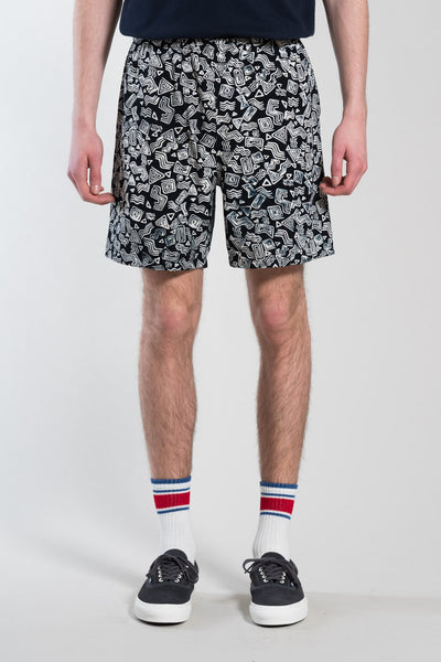 STAN RAY - Mens Volley Short (Tom Tom Batik Black)