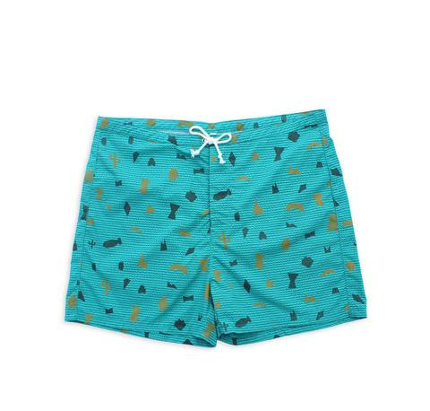 M. CARTER CO. - Shape Board Shorts - Shape/Teal - XL ONLY!