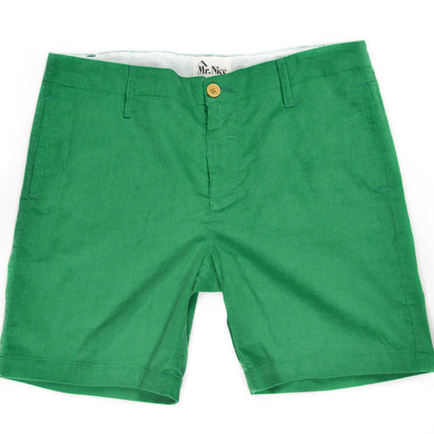 "Mr. Nice - Summer Corduroy Shorts / Green - 36"" Only"