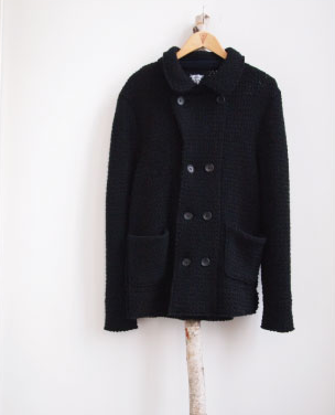 VIA SPARE - KNIT PEACOAT - only size large left!