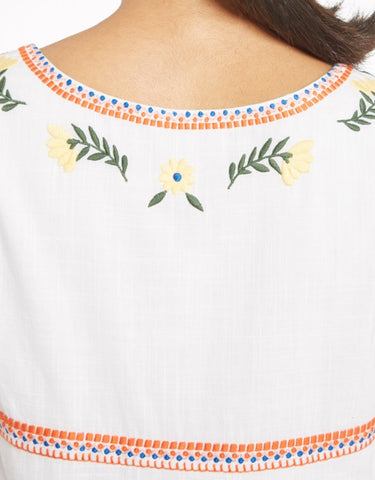 YMC - Floral Embroidery Dress