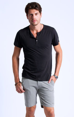 Sol Angeles - Essential S/S Henley V Black - size small only!