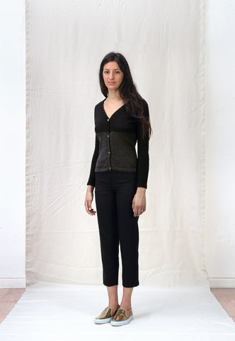 Ete Noir - Wool and Silk Cardigan