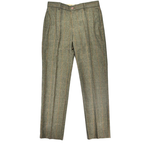 Mr. Nice - Houndstooth Wool Pant - Green