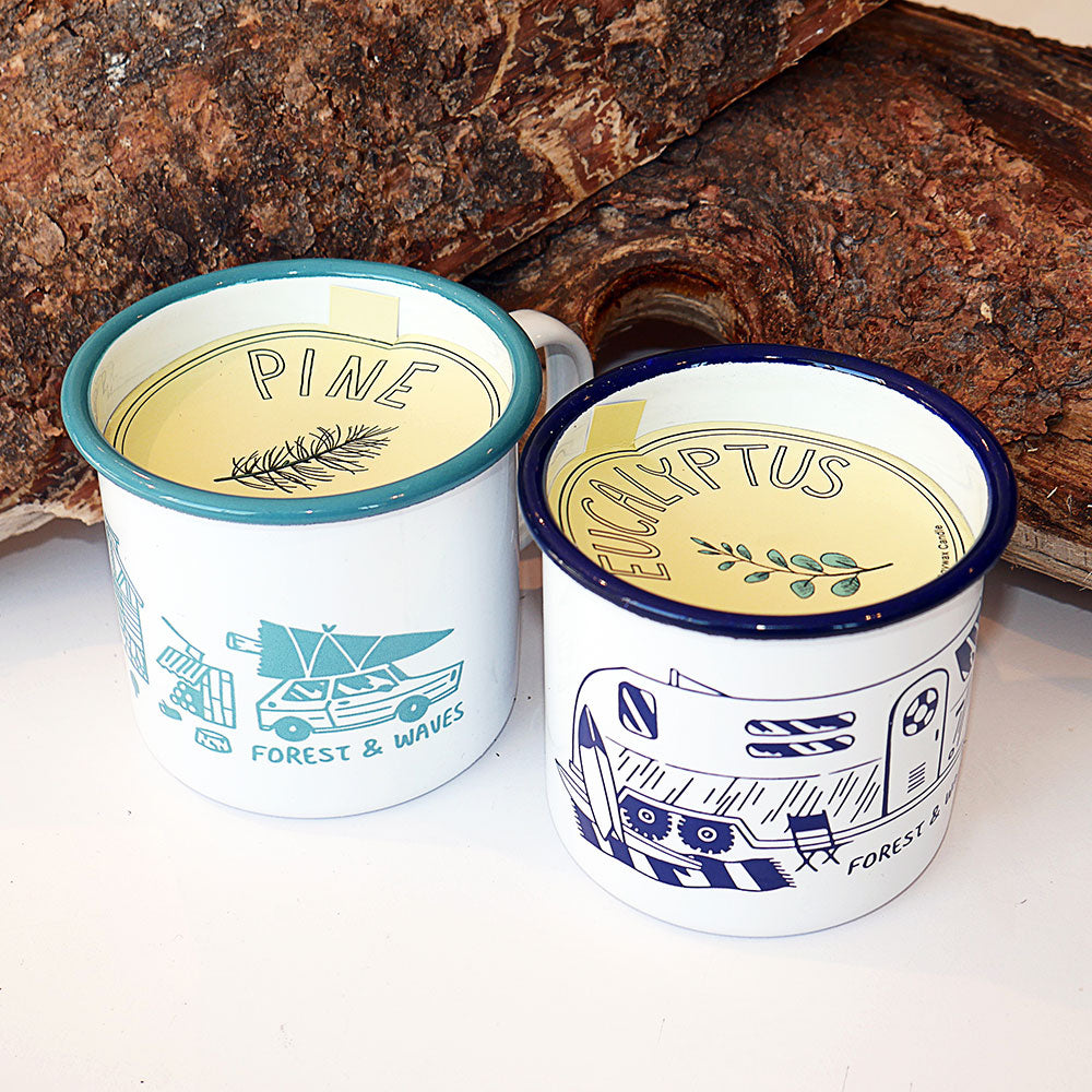 Forest & Waves - Enamel Mug Candle