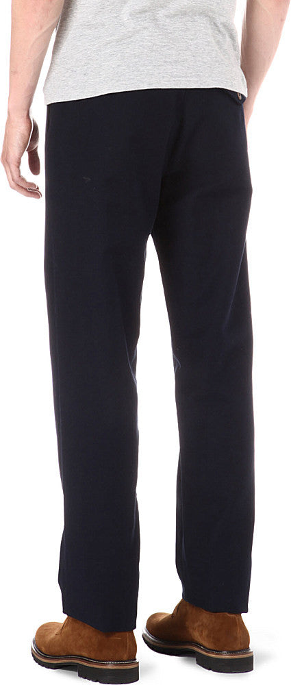 Oliver Spencer - Navy Wool Pleat Trouser
