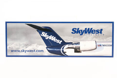 Bumper Sticker SkyWest Blue Tail