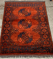 Afghan Ariana GENUINE Hand Knotted Wool Rug 103 cm x 145 cm
