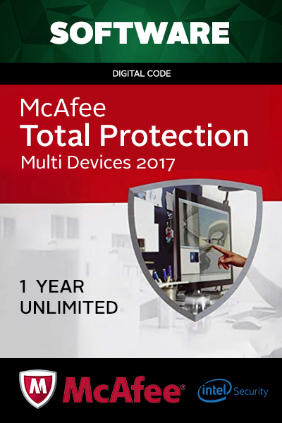 McAfee Total Protection Multi Devices 2017 1 Year Unlimited