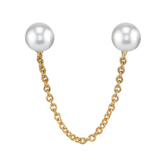 Pearl and Gold Double Earring