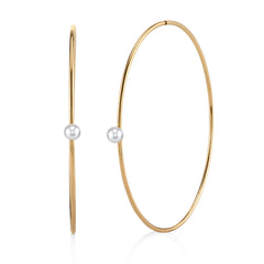 Pearl and Gold Hoops
