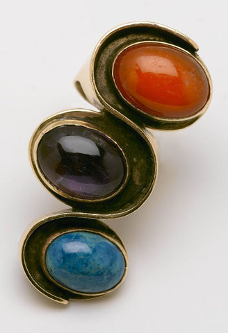 Art Smith Carnelian, Amethyst, Chrysocola