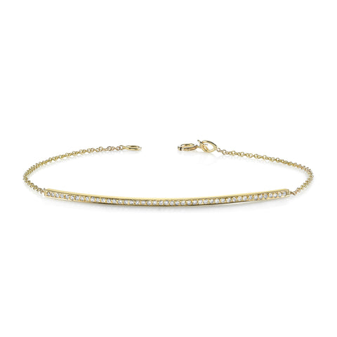 Pave Bar & Chain Bracelet