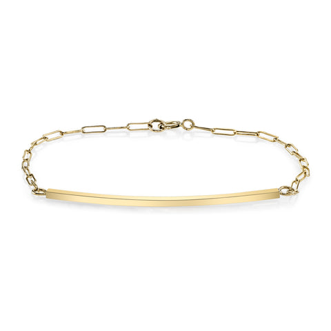 Carrie Hoffman Jewelry | Bar & Drawn Cable Bracelet