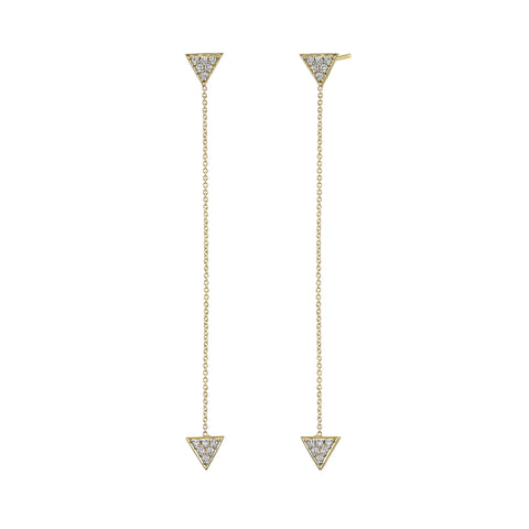 Pave Triangle Drop Studs