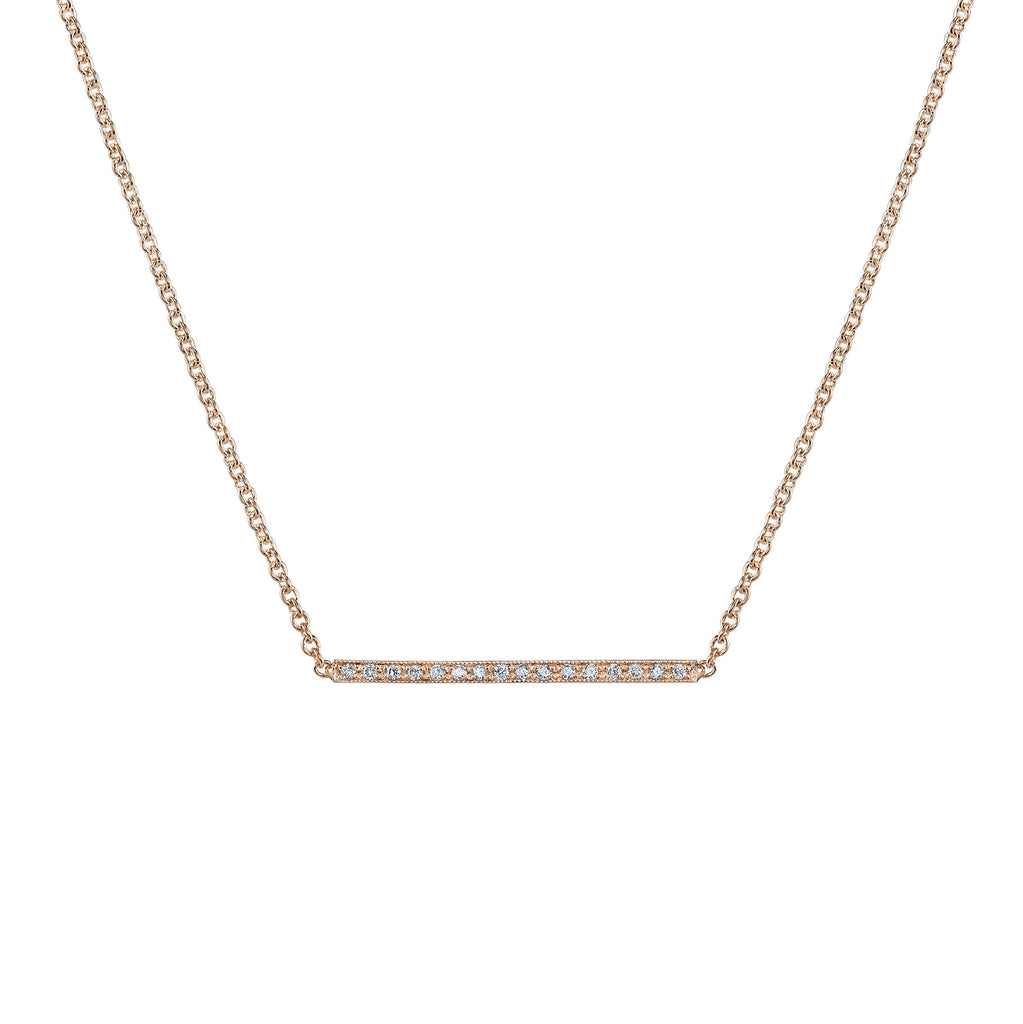 PAVE STRAIGHT BAR NECKLACE