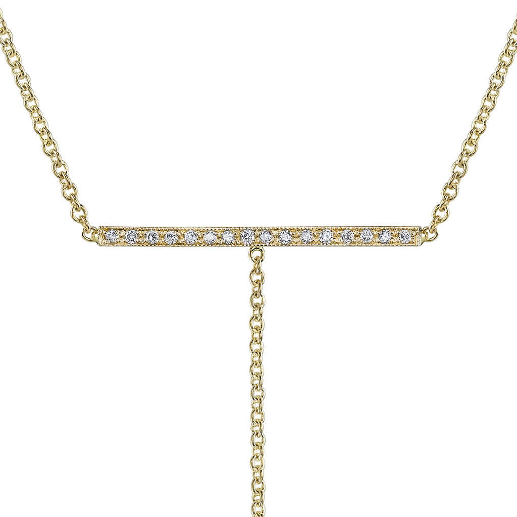 Pave T-bar Necklace