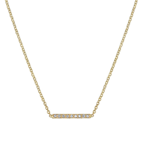 Carrie Hoffman Jewelry l Pave Mini Straight Bar Necklace