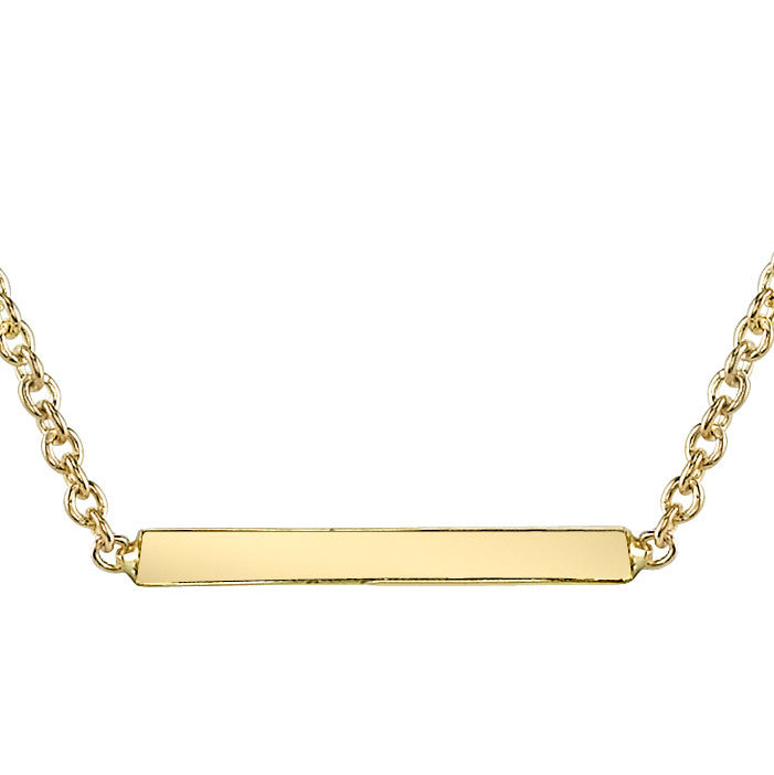 Carrie Hoffman Jewelry | Mini Straight Bar Necklace