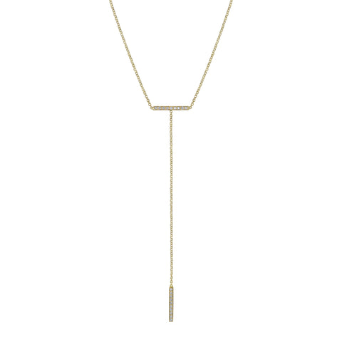 MINI PAVE T-BAR NECKLACE
