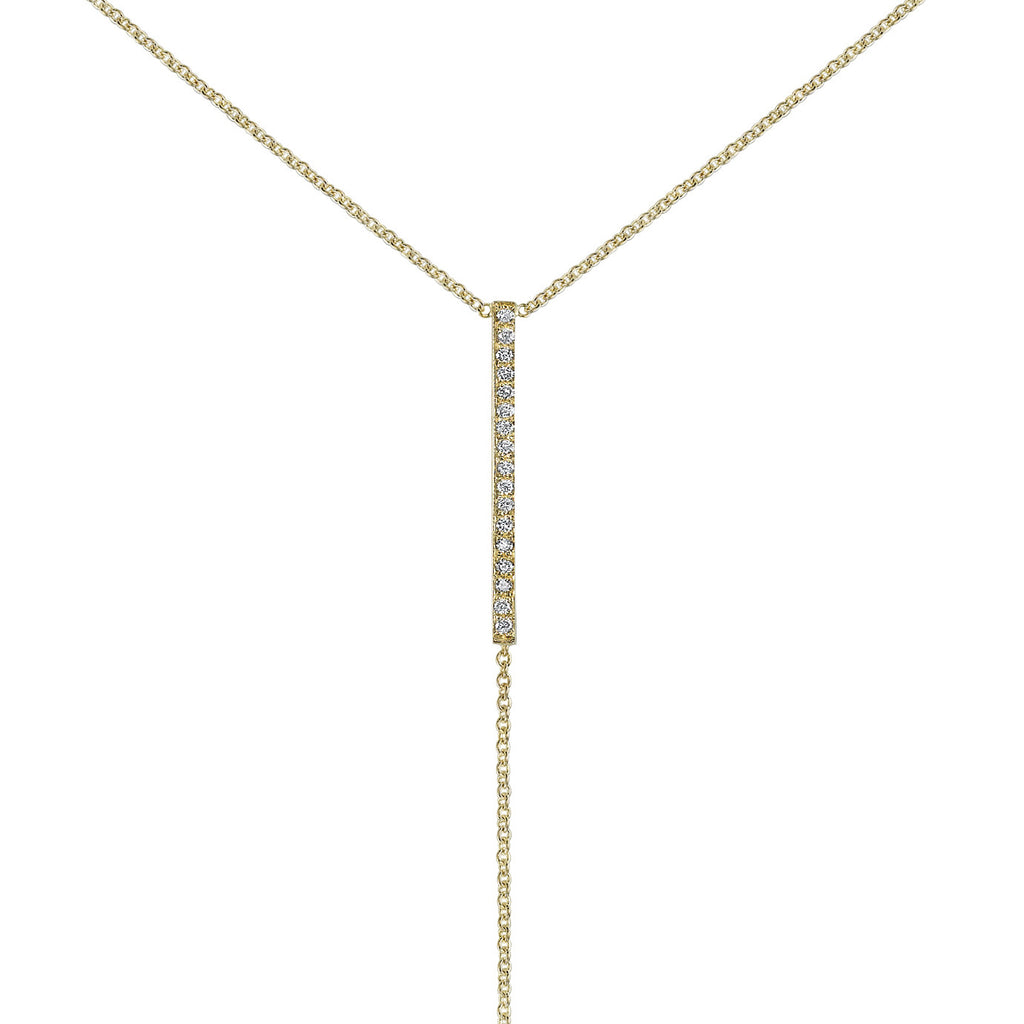 PAVE Y-BAR NECKLACE