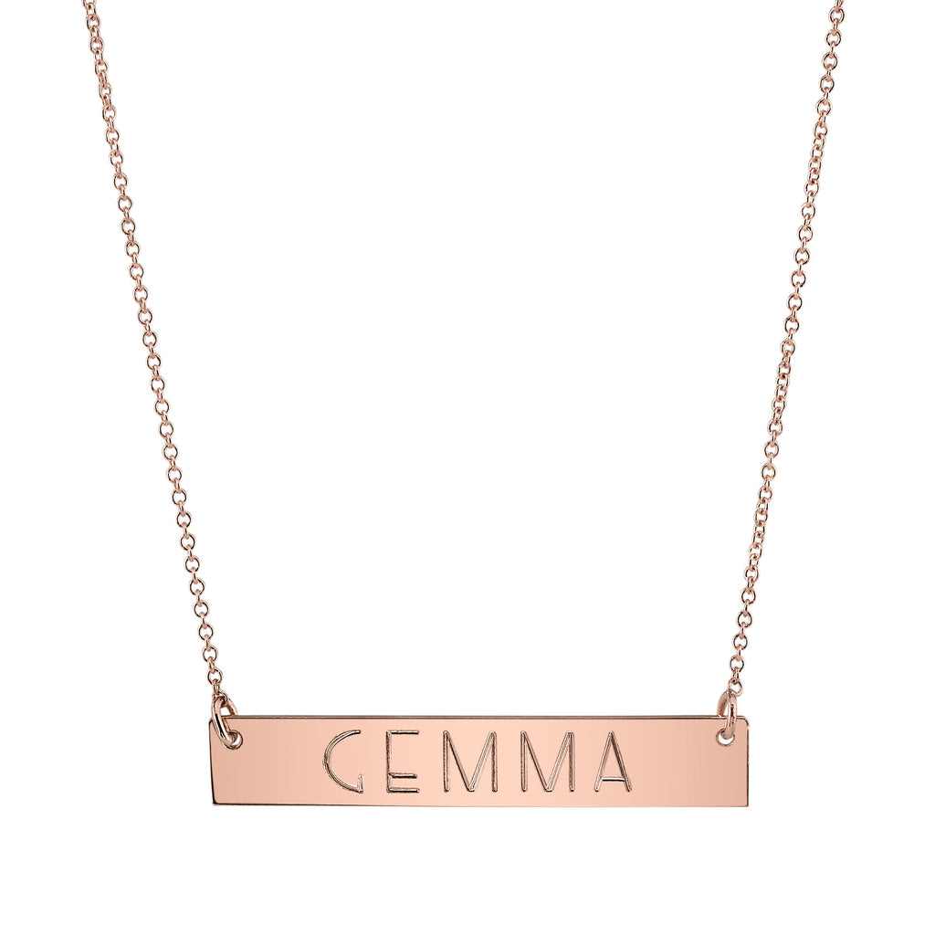 Nameplate Necklace rose gold