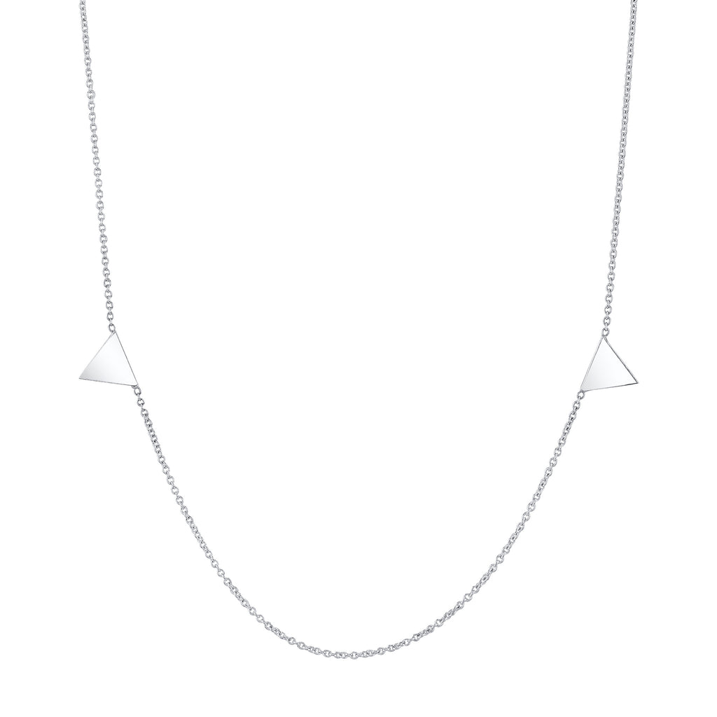 Carrie Hoffman Jewelry | Mini Duo Triangle Clavicle Necklace