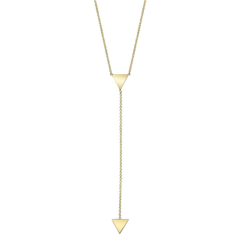 Carrie Hoffman Jewelry | Mini Triangle Lariat Necklace