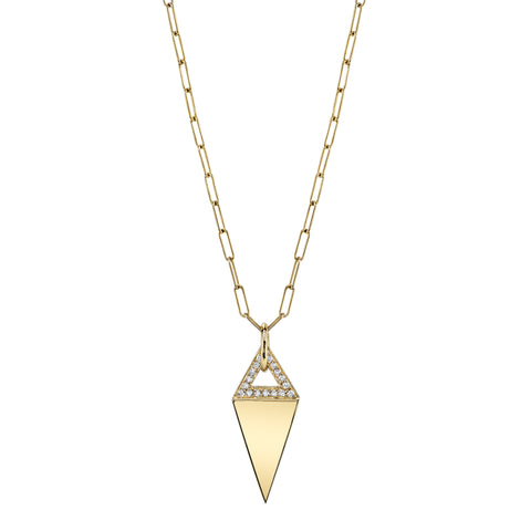 Pave Kite Necklace gold and diamonds