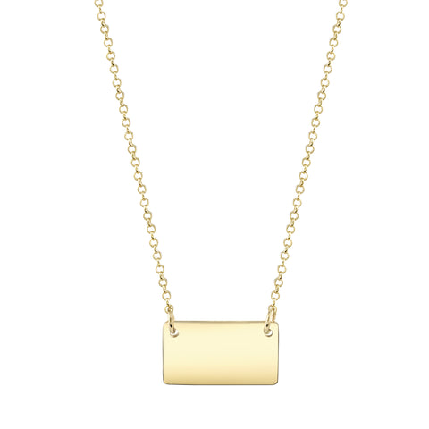 Carrie Hoffman Jewelry l Sideways Rectangle Necklace