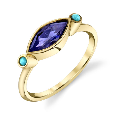 Carrie Hoffman Jewelry | Iolite Turquoise Ring