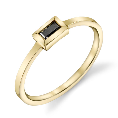 Carrie Hoffman Jewelry | Black Diamond Baguette Ring