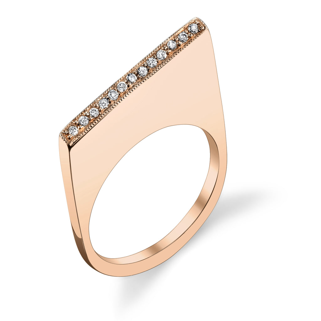 PAVE SHARP SLICE RING