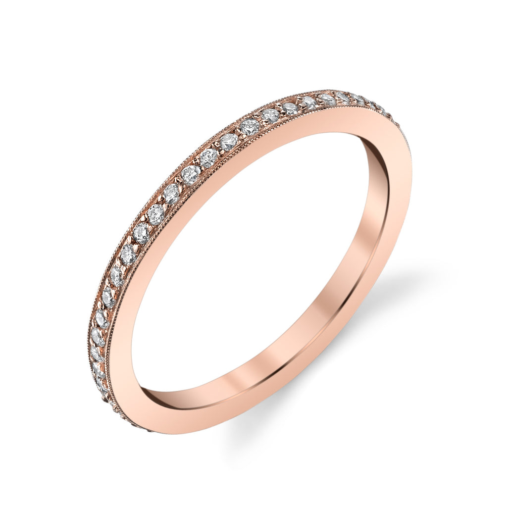 Pave Circle Ring rose gold