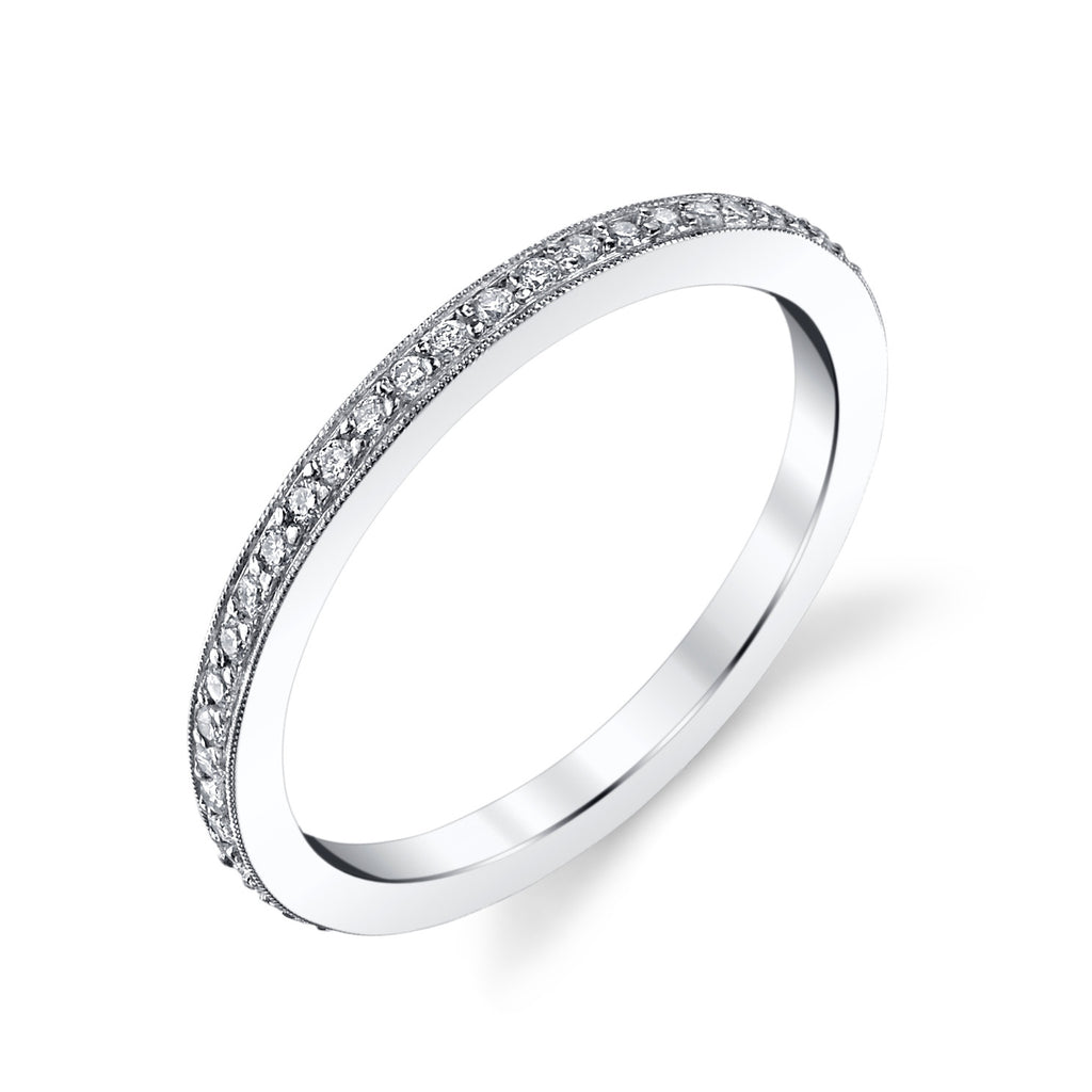 Pave Circle Ring white gold