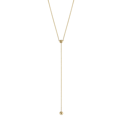 Carrie Hoffman Jewelry l Sphere Lariat Necklace