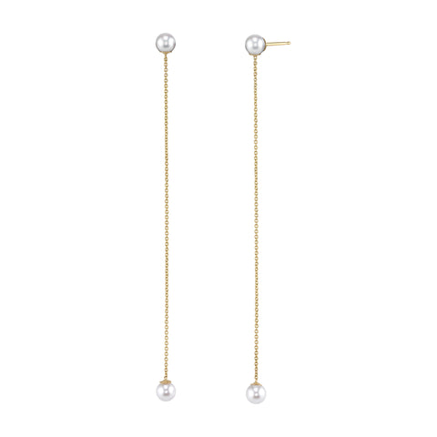 Carrie Hoffman Jewelry | Long Sphere Drop Studs