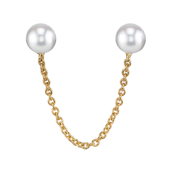 Carrie Hoffman Jewelry l Short Double Sphere Stud