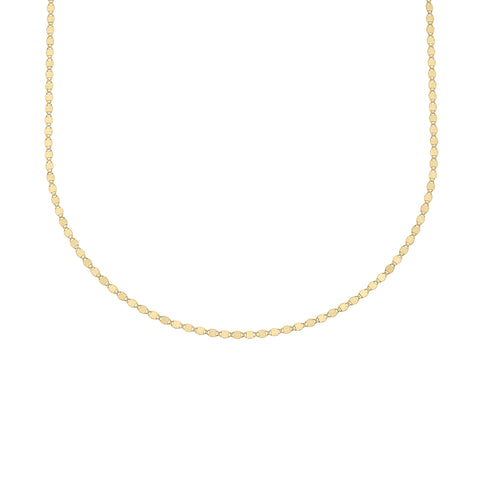 Flat Oval Disc Chain Necklace & Bracelet