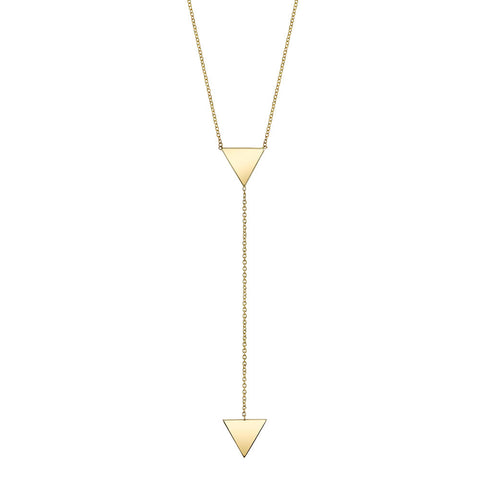 Carrie Hoffman l Triangle Lariat Necklace