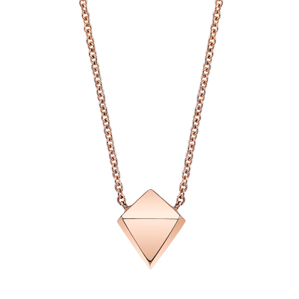 Polyhedron Necklace white gold