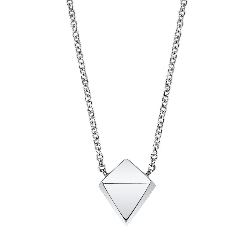 Polyhedron Necklace rose gold