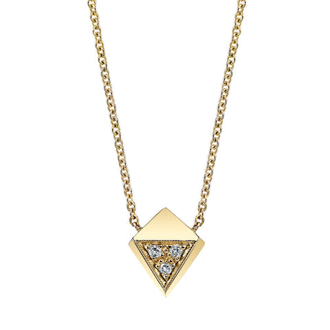 Carrie Hoffman Jewelry l Pave Polyhedron Necklace