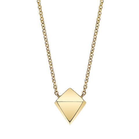 Polyhedron Necklace yellow gold
