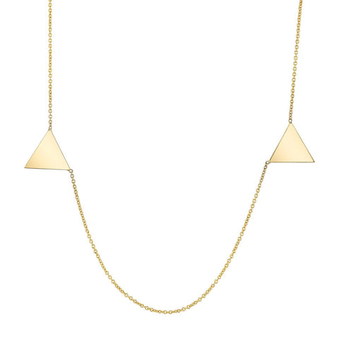 Triangle Duo Clavicle Necklace