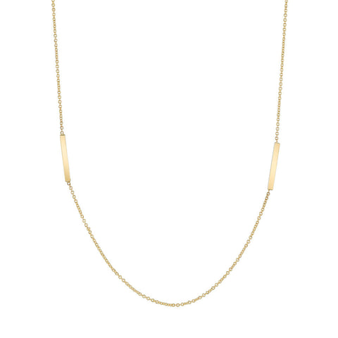 Bar Duo Clavicle Necklace