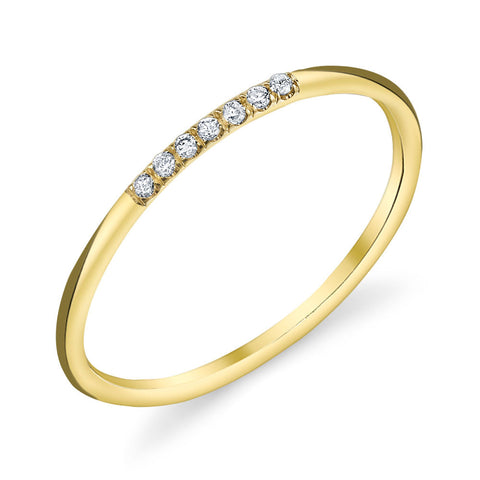 7 Stone Pave Diamond Band