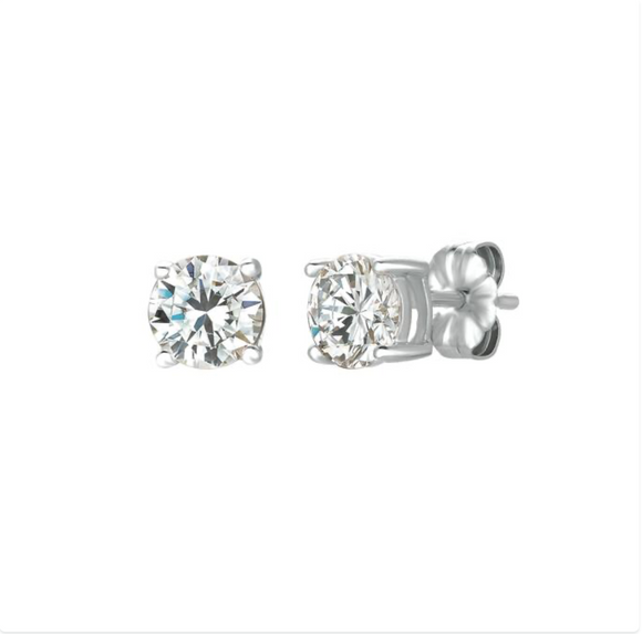 CZ Solitaire Earrings Solitaire