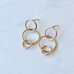 BBJ-F Triple Circle Post Earrings (options)