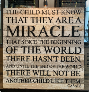 Website - The Child Must Know Reclaimed Wood Sign 28 x 28 SNBH